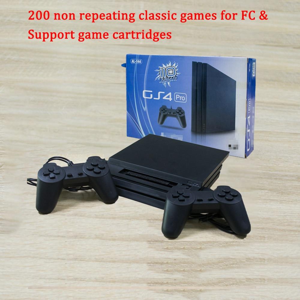 8Bit لعبة محطة تحكم 4 GS4 برو ل FC TV لاعب لعبة فيديو وحدة التحكم المدمج في 200 غير تكرار ألعاب اضافية خرطوشة هدية