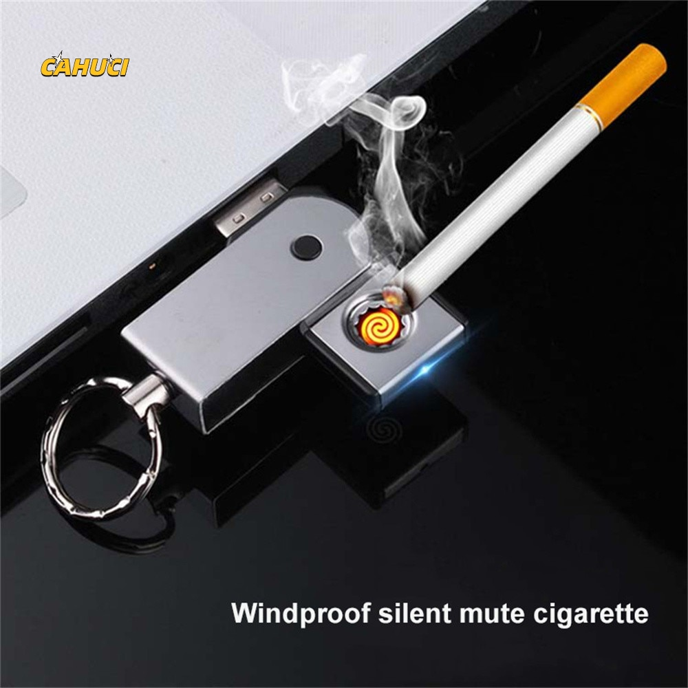 Keychains Computer USB In-line Cigar Cigarette Lighter Windproof Tungsten Coil Lighter Outdoor For S