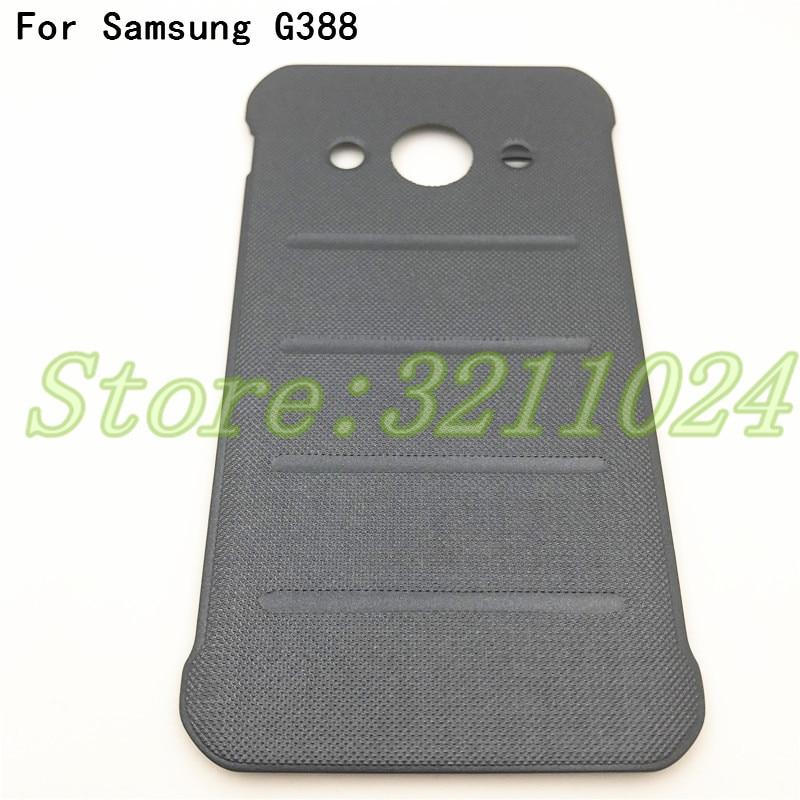 """Cubierta trasera de la batería de calidad superior carcasa de 4,5 """"para Samsung Galaxy Xcover 3 G388 G388F puerta trasera de la batería del teléfono con Logo"""