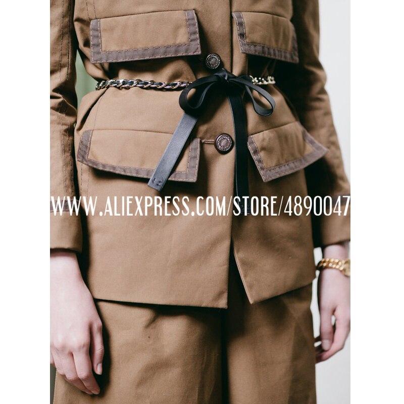 Moda femenina 2020 con Cinturón de piel de oveja compuesta de capa superior Cadena de costura de alta calidad Cadena de cintura un tamaño 163CM
