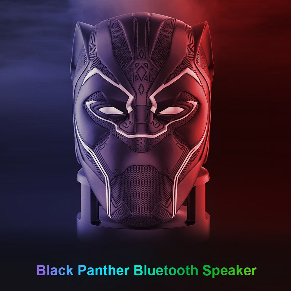 Black Panther Mini Bluetooth Wireless Speakers Portable HiFi Subwoofer For PC Computer Sound Box Music Center Audio System Radio