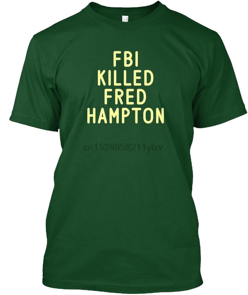 Camiseta para hombre, camiseta del FBI matted FRED HAMPTON, camisetas para mujer