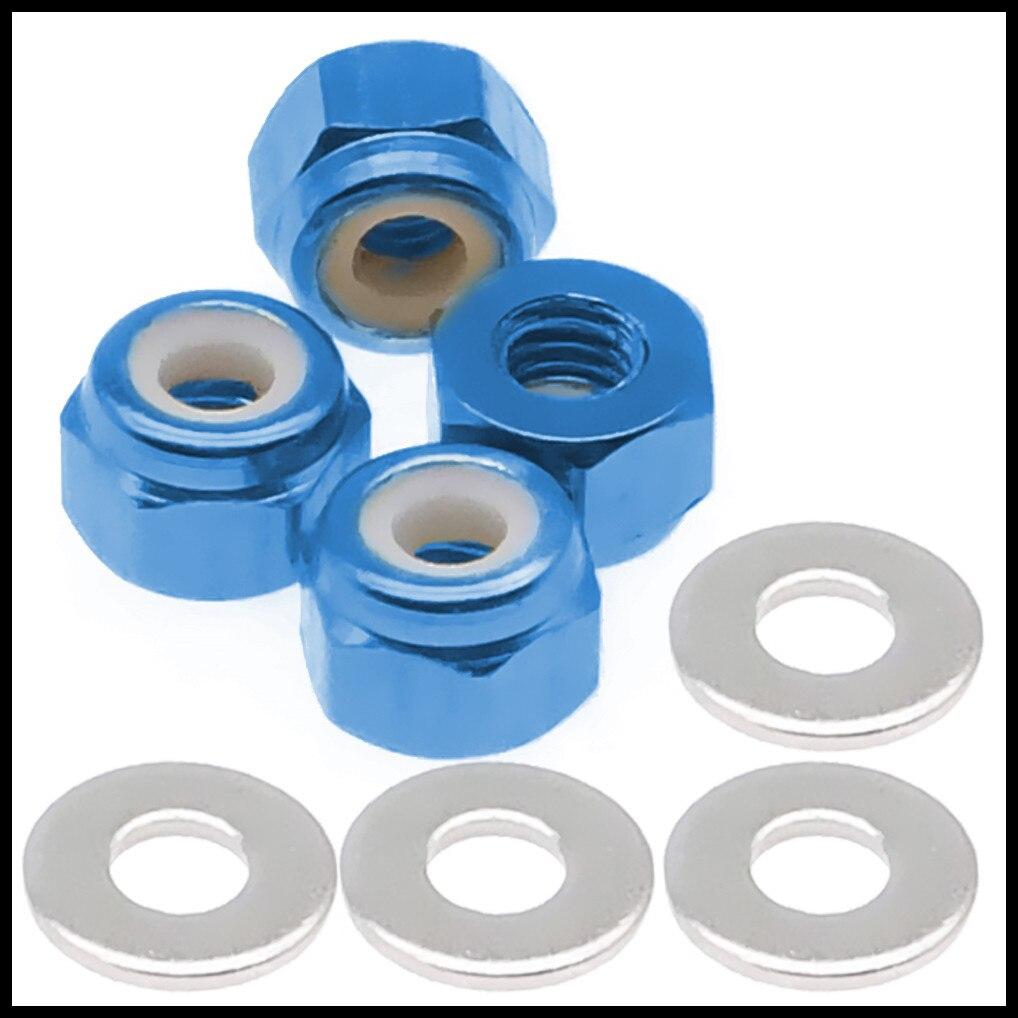 Alloy 4 pcs/set M3 wheel tire lock nut for rc hobby model car 1-14 Wltoys 144001 buggy option hop-ups parts