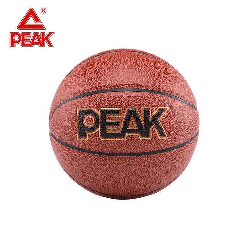 Профессиональный коричневый баскетбольный мяч пик для соревнований и тренировок баскетбольный мяч из полиуретана Размер 7 для занятий спо...