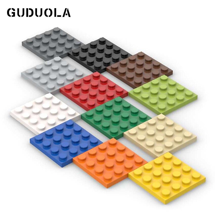 Guduola строительные блоки пластины 4x4 MOC части совместимы 3031 базовый кирпич DIY творческие блоки мелкие частицы блоки 40 шт./лот