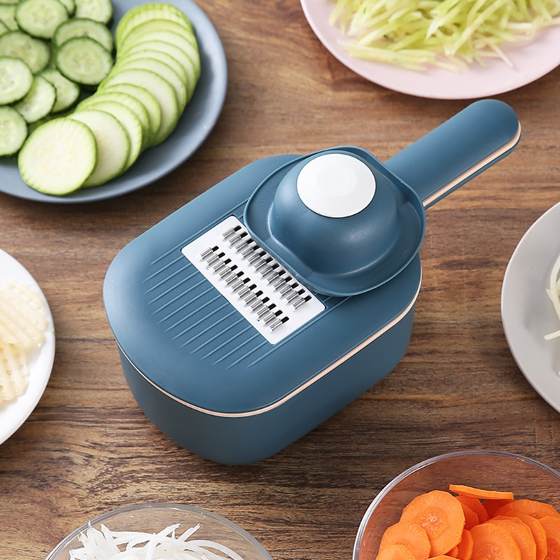 متعددة الوظائف البطاطس الجزرة الخيار آلة قطع ماندولين القاطع مبشرة تمزيقه مع مصفاة/أدوات المطبخ الفاكهة والخضروات