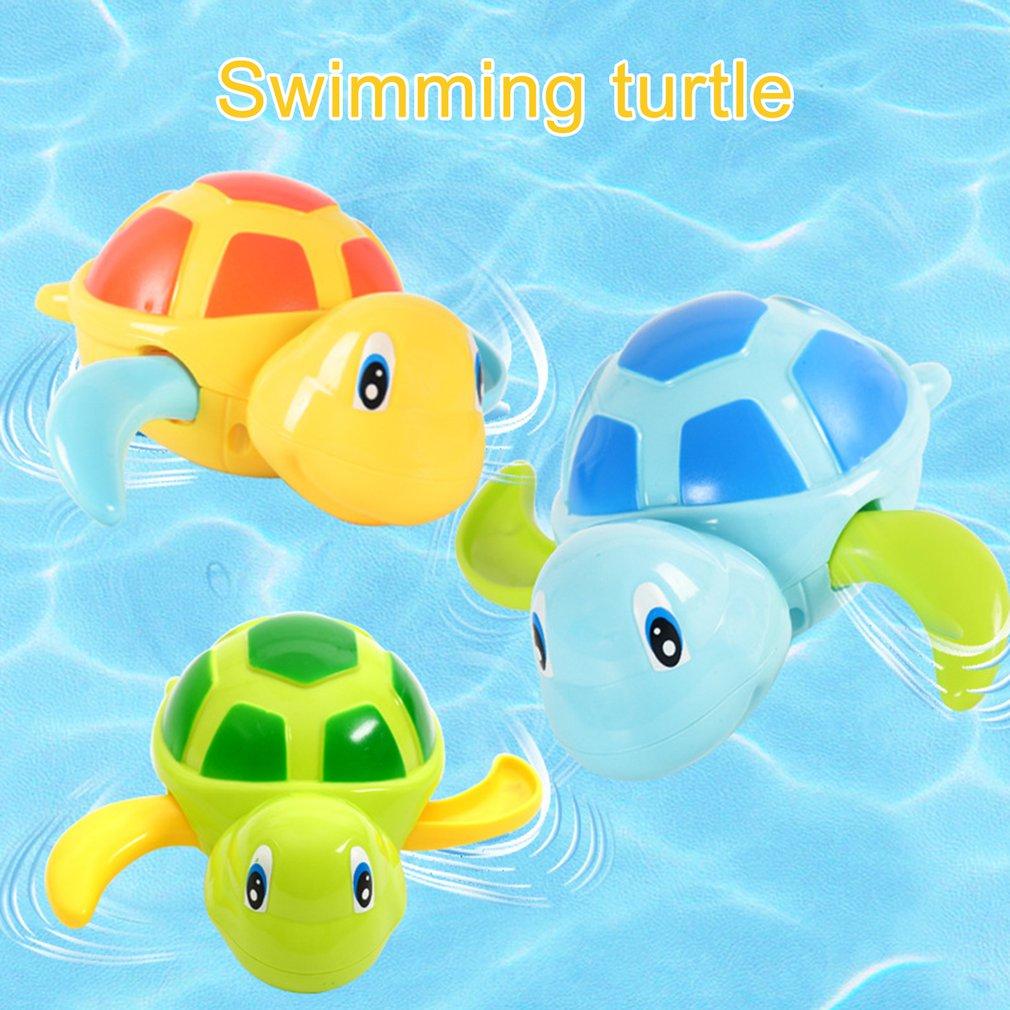 3pcs Cute Cartoon Animal Tortoise Classic Baby Water Toy Infant Swim Turtle Wound-up Chain Clockwork Kids Beach Bath Toys