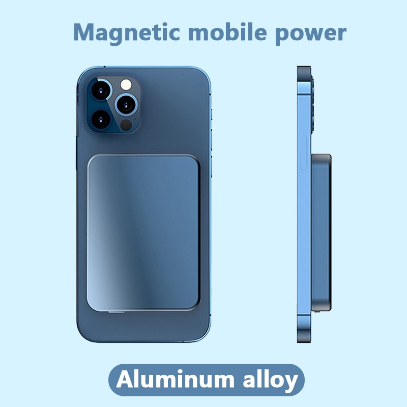 For Magsafe iphone 12 12Pro 12proMax xiaomi 2021 Magnetic Wireless Charging Power Bank External auxiliary Battery Magnet Charger