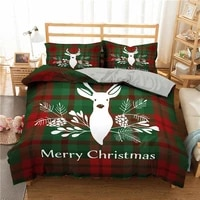 luxury bedding sets queen size 3d merry christmas duvet cover with pillowcases bed set beautiful bedclothes
