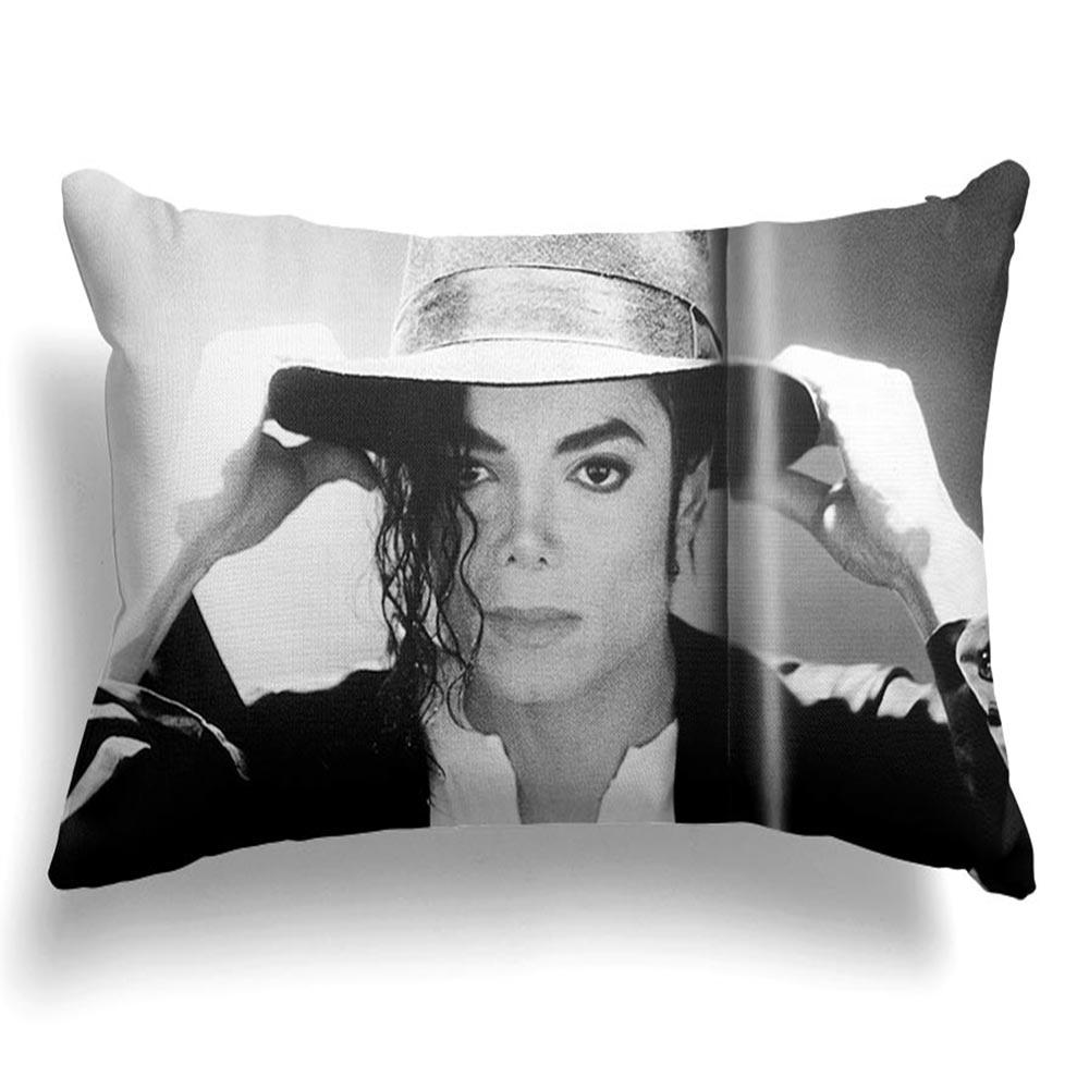 Personalizado sofá cama Michael fundas de almohada funda de almohada rectangular con cremallera Multi lados (un dibujo lateral) #200620