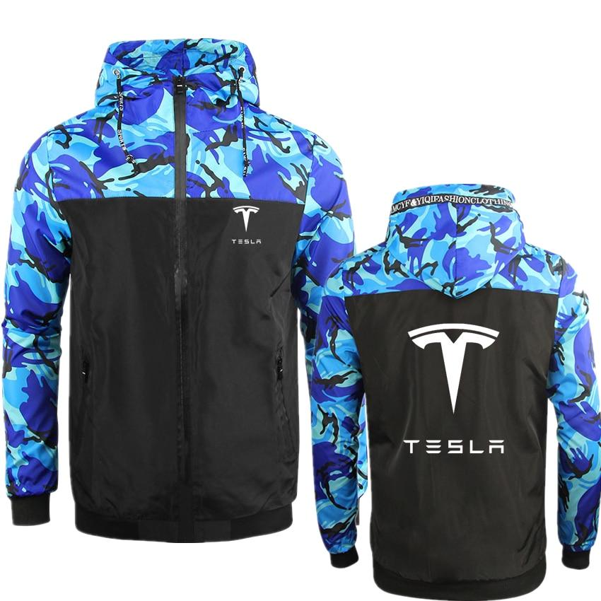 2021 Tesla осень-зима армейский зеленый мужские военные камуфляжные толстовки с принтом Кофты Мужская камуфляжная куртка с капюшоном в стиле хи...