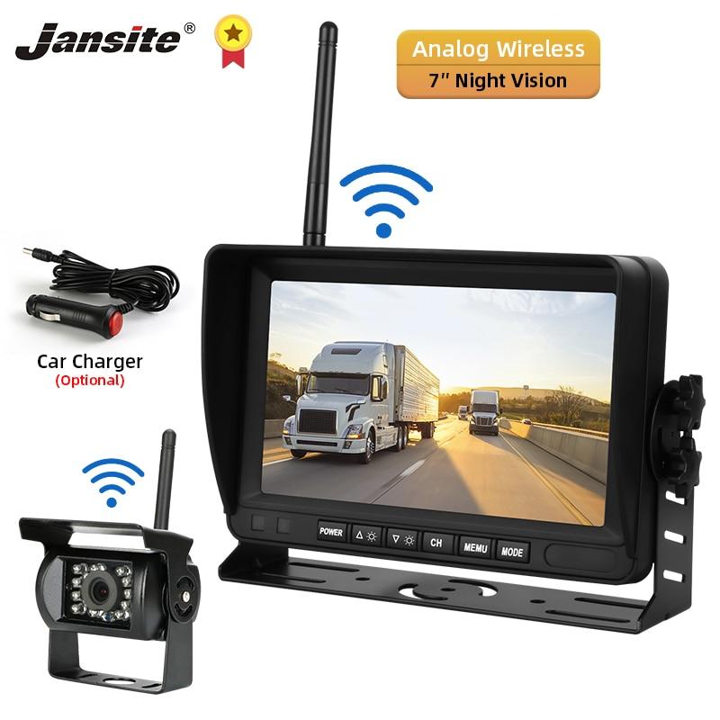 Jansite 7 inch Wireless Rear view Camera Reverse Camera Car Camera Backup Camera Night Vision U-shaped Bracket 12V-24V