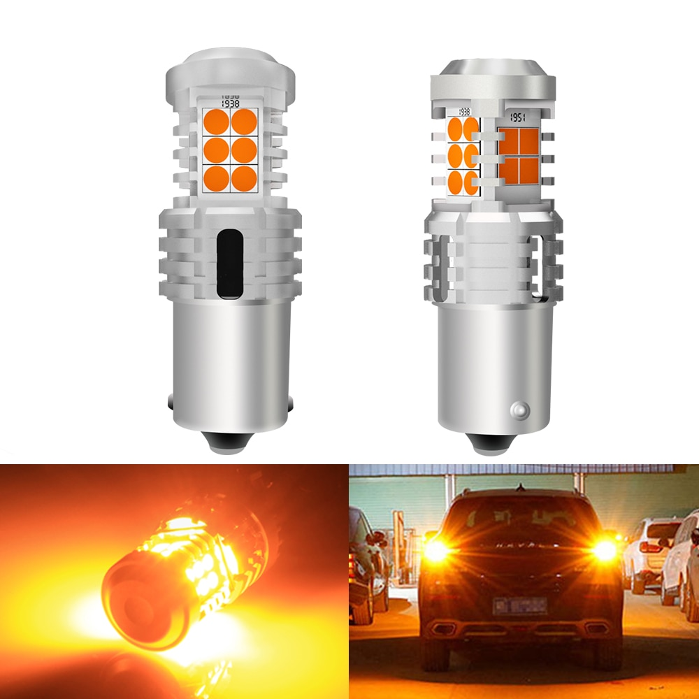 BMT 2x Canbus para VW Jetta Golf 4 5 7 6 CC LED frontal Luz de intermitente trasero 1156 BA15S P21W PY21W 7506 Error 7507 libre de bombillas Led