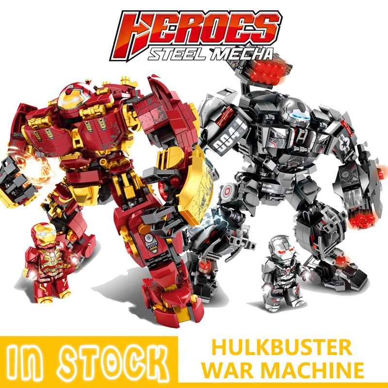 Marvel Building Blocks Iron man Hulkbuster War Machine Super Heroes  Avenger Infinity War Children Kids Toys Gifts 2 types