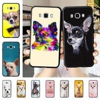 yinuoda cute pet chihuahua dog phone case for samsung j 2 3 4 5 6 7 8 prime plus 2018 2017 2016 core