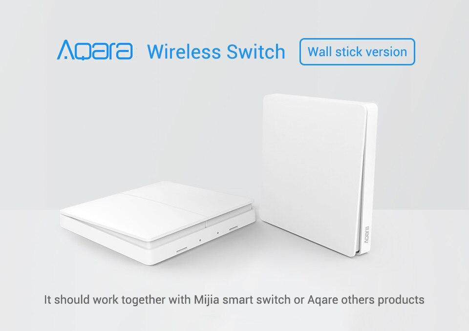 Aqara interruptor inteligente sem fio campainha para xiaomi homekit interruptor de parede sem fio zigbee mijia app