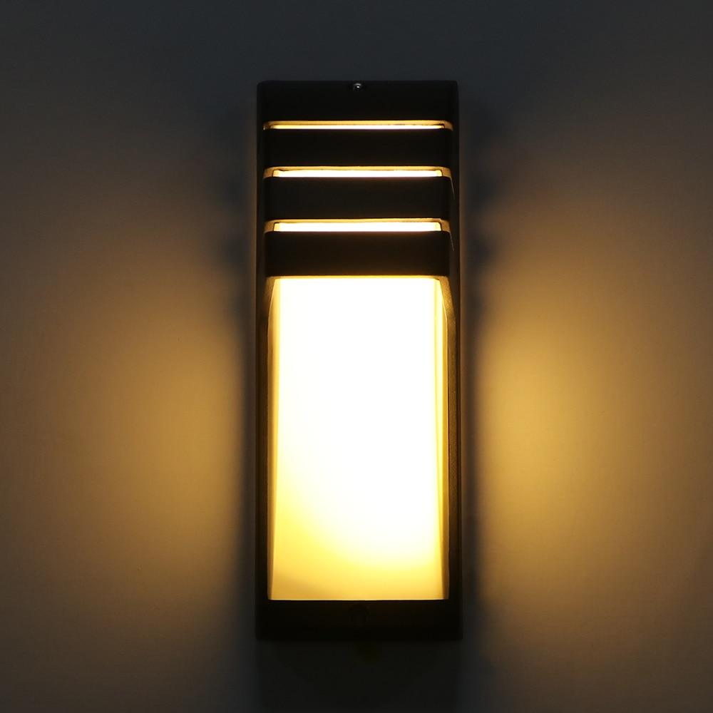 12W مصباح الجدار في الهواء الطلق للماء LED الشرفة ضوء AC90-260V الألومنيوم فناء حديقة الشرفة الممر أضواء الرجعية الجدار مصباح