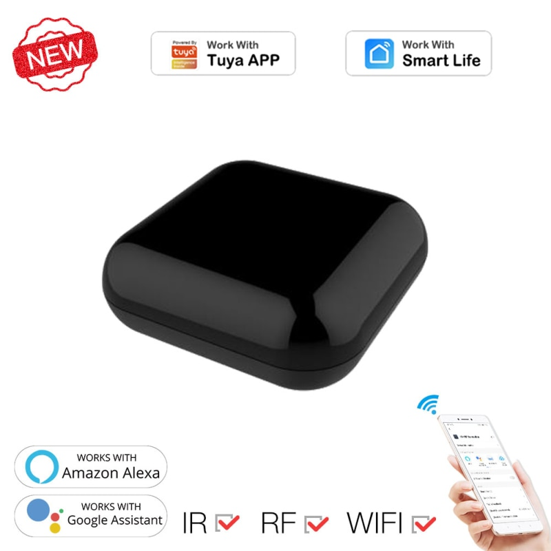 WiFi RF+IR Universal Remote Controller RF Appliances Smart Home Tuya/Smart Life App Voice Control Work With Alexa Google Home