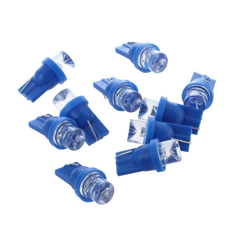 Promoção! 10x W5W LED nightlight lâmpada 158 168 194 T10 2825 Xenon azul efeito teto