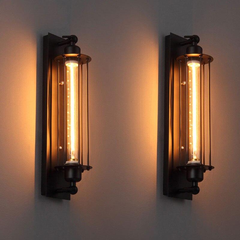Lámpara de pared de estilo Industrial E27 LED retro americano, lámpara de pared para estudio, balcón, cafetería, restaurante