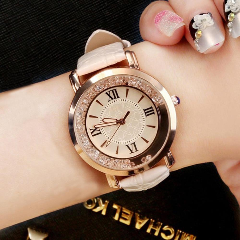 Watches Watch 2021 Women Watch Fashion Luxury Leisure Set Auger Leather Stainless Steel Quartz Watches Wristwatch Ladies Girls