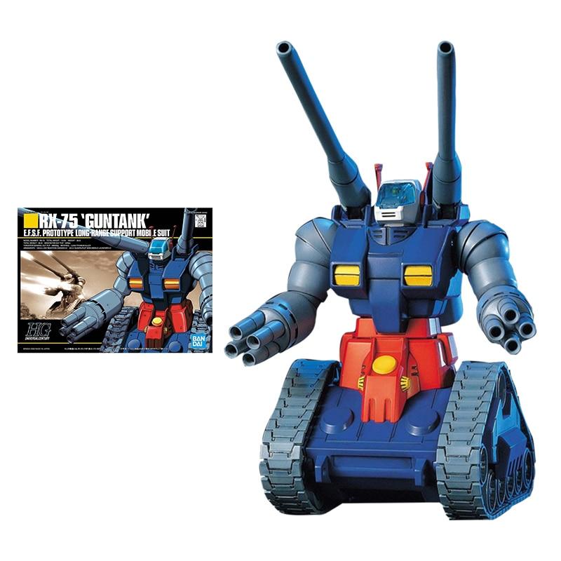 Набор моделей Bandai Gundam, аниме фигурка HGUC 1/144 RX-75-4 Guntank, Подлинная модель робота Gunpla, экшн-фигурка, игрушки для детей