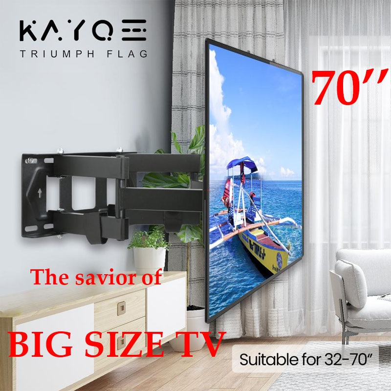 El Salvador de la TV grande 6 brazos 32 -70 montaje retráctil de TV KAYQEE MAX VESA 400x400mm LCD soporte de pared de soporte