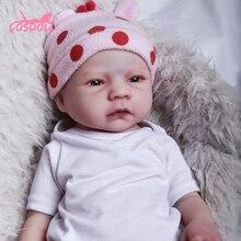 COSDOLL 56CM Reborn Doll real 3.45kg Full silicone Baby Dolls for Children Toys Toddler Newborn Holi