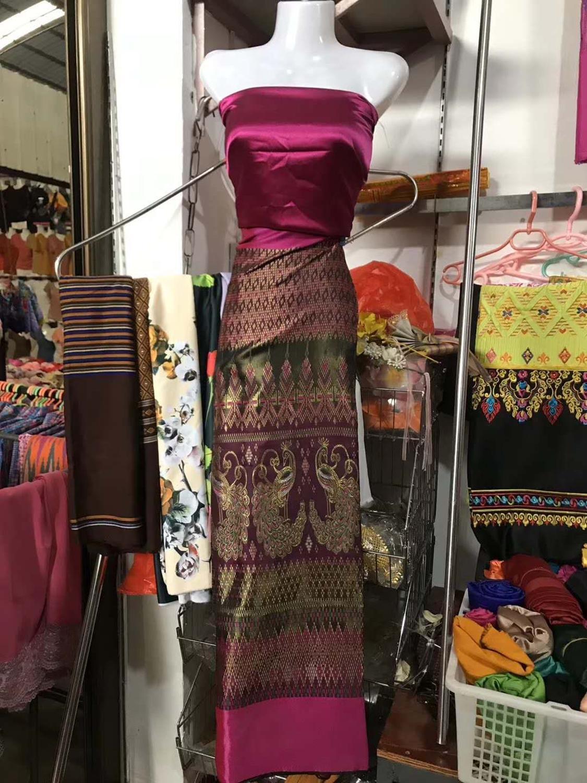 Nuevo vestido de novia Hanfu brocado nacional jacquard artificial sedoso traje geométrico tela de cheongsam Damasco