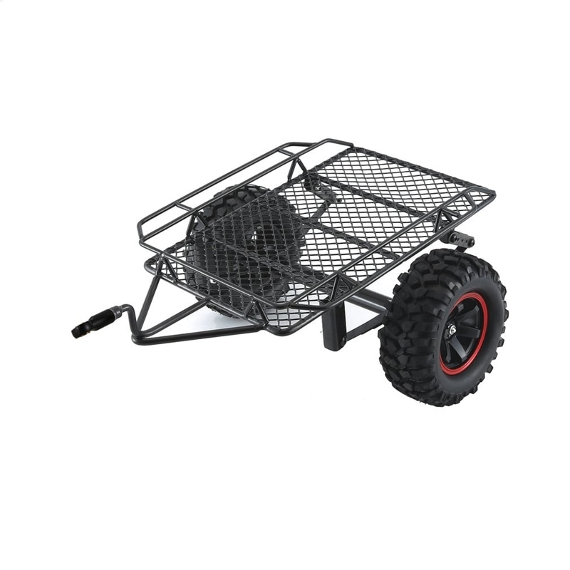 Porte-bagages de voiture de remorque en métal pour chenille de roche 1/10 RC Traxxas TRX4 Axial SCX10 RC4WD D90 CC01 Redcat