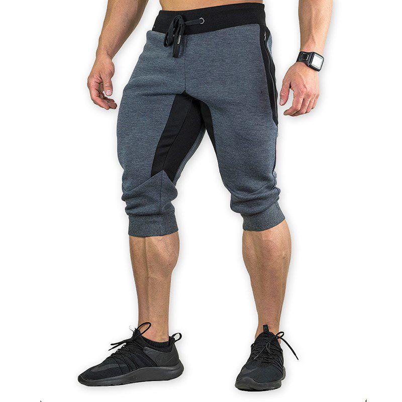 Мужские спортивные шорты для спортзала 2021, брюки с эластичной резинкой, на молнии, с карманами, спортивные мужские мягкие хлопковые штаны дл...