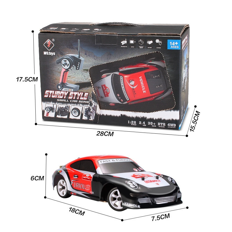WLtoys Remote Control Four-Wheel Drive Car Charger Electric Toys Mini RC Car 1:28-Ratio High-Speed Off-Road Vehicle enlarge