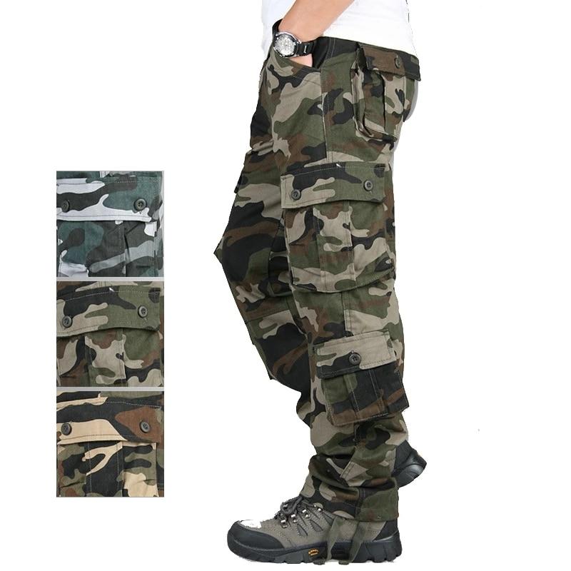 Детские носки высокого качества, мужские брюки-карго камуфляжные спортивные свободные штаны в стиле милитари с несколькими карманами разм...
