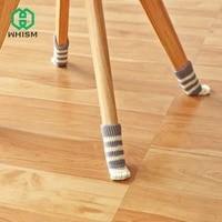 4pcs chair leg socks cloth floor protection pads knitting wool socks noiseless anti slip table legs furniture feet sleeve cover