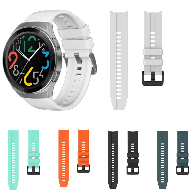 Silicone Watch Strap For Huawei Watch GT 2e Bracelet Band Sport Wrist Strap For Huawei GT2 / GT 46mm Wristband For Honor Magic 2 silicone leather watchband for huawei watch gt gt2 46 honor magic 2 46mm watch band wrist strap bracelet belt for ticwatch pro