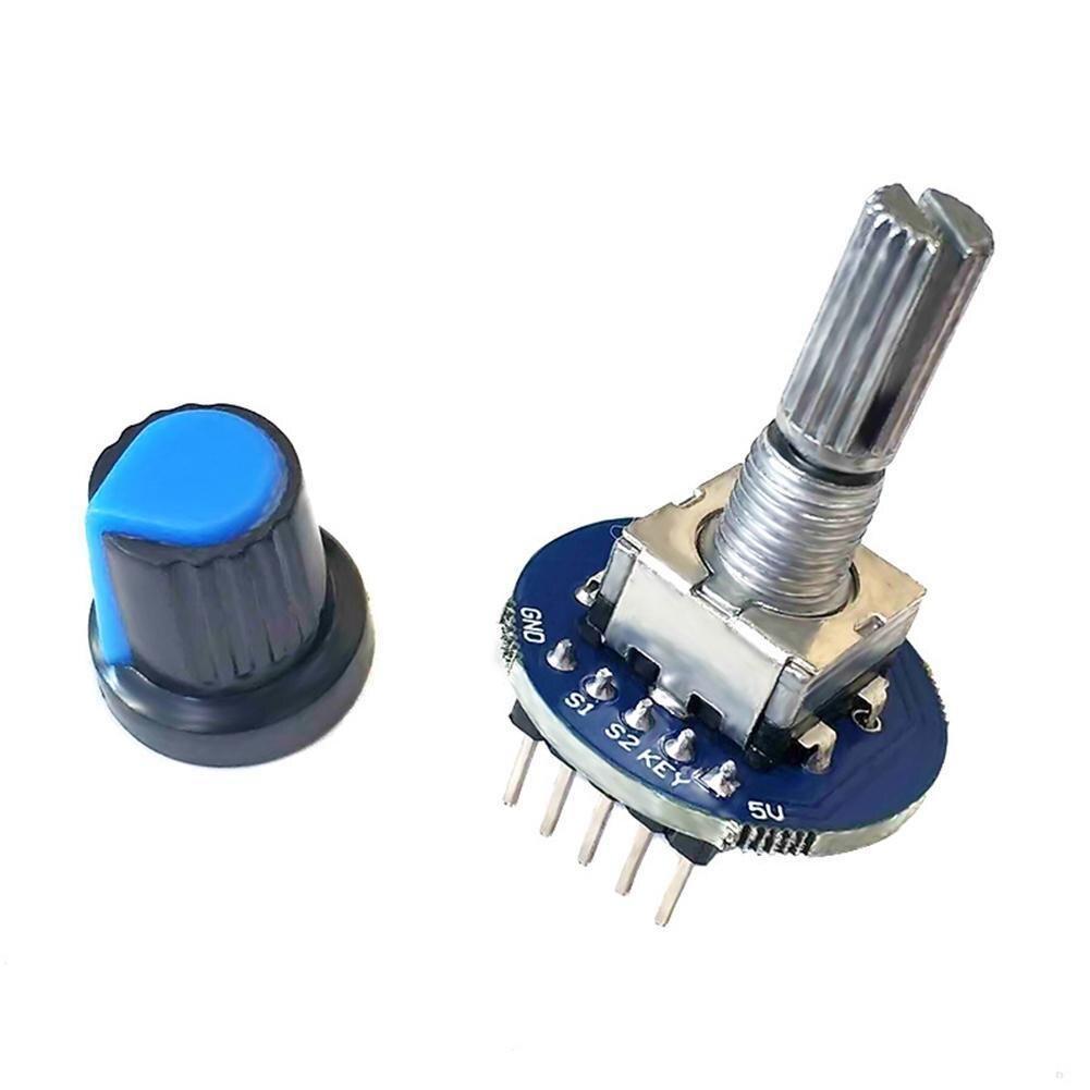 New 5V Rotary Encoder Module for Arduino Brick Sensor Development Round Audio Rotating Potentiometer With Knob Cap