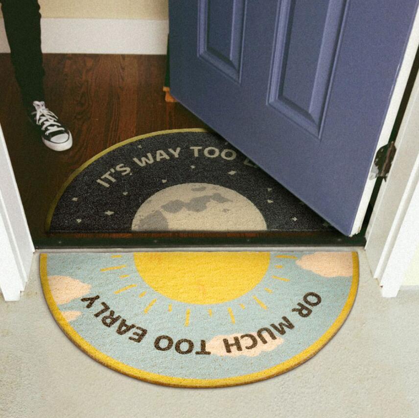 Alfombra nórdica de eliminación de polvo alfombrilla de alambre Loop encantador tapete semicircular en el pasillo cocina baño antideslizante alfombra de entrada felpudo