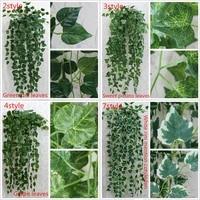 HUHULE     guirlande suspendue de feuilles de lierre artificielles  90cm  fausses plantes de vigne  decoration de jardin  de maison  de fete de mariage