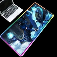 xgz anime pads glowing colorful table mat sword art online mouse pad rgb durable rubber base non slip game player desk mats
