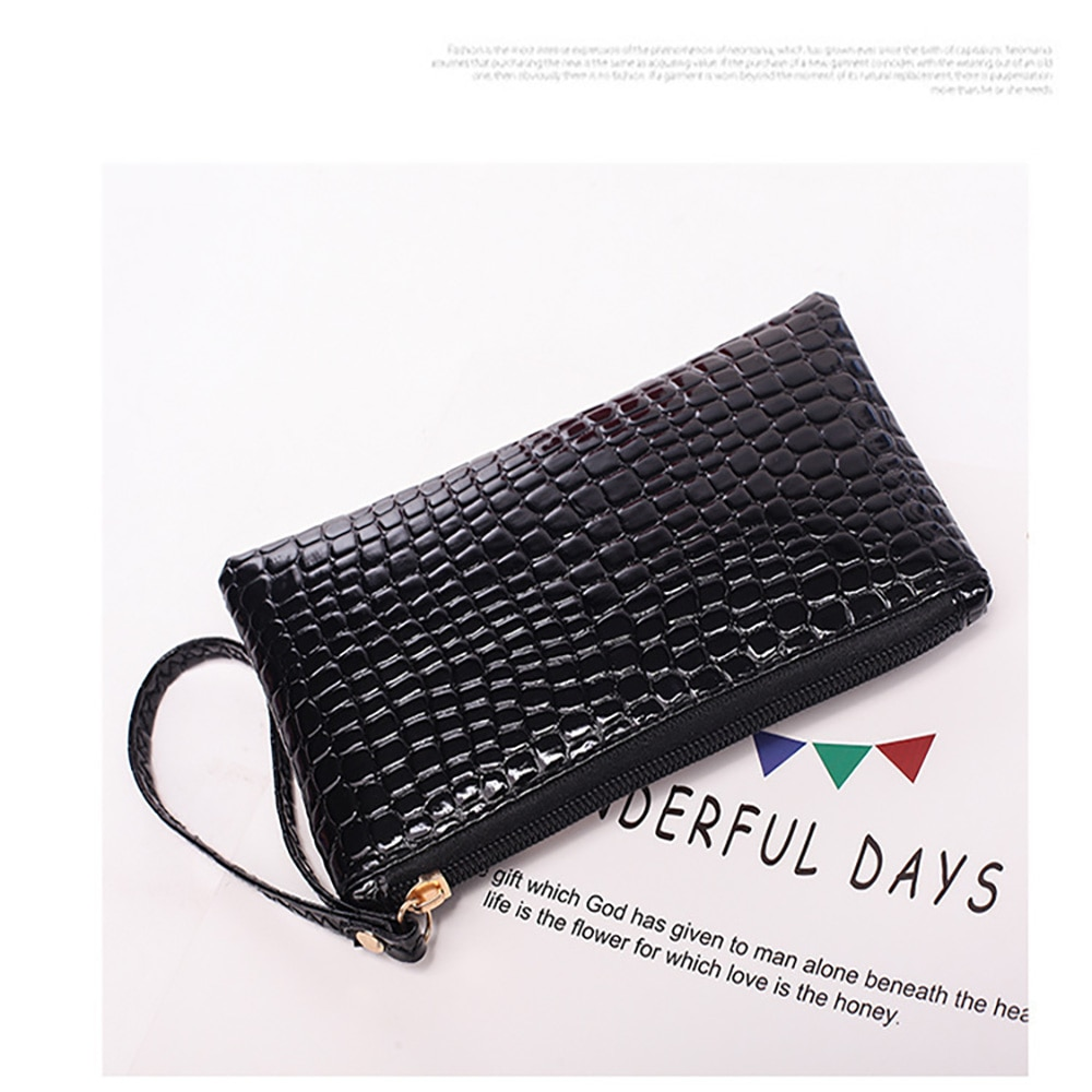 Clutch handbag crocodile pattern mobile phone storage fashion coin purse practical female e-commerce gift small gift clutch bag