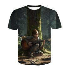 Fashion 3D printing design GAME T-shirt The last of us The last survivor Mens short sleeve T-shirt camiseta masculina