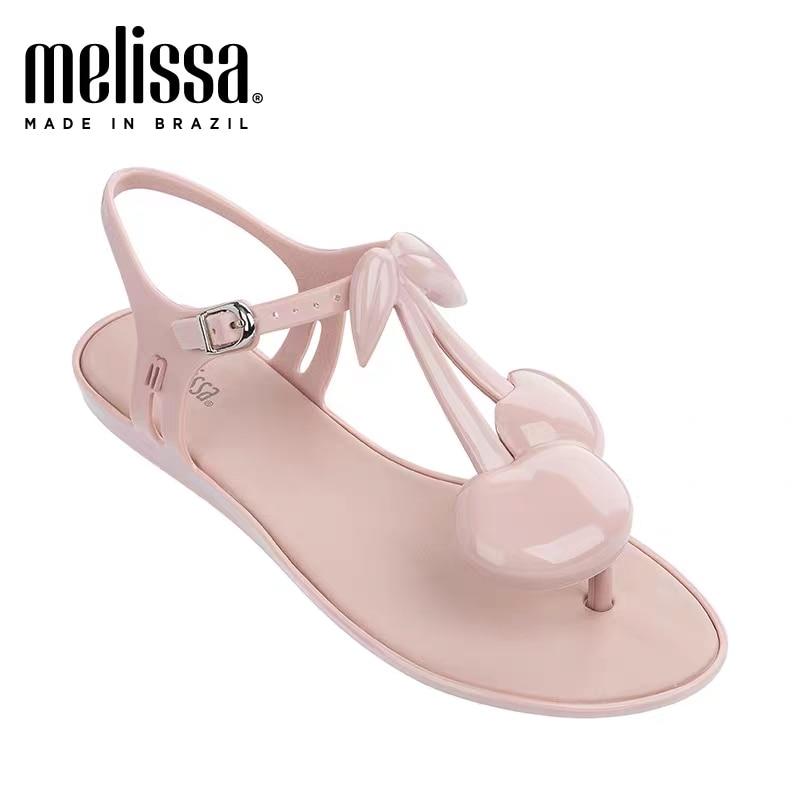 Melissa Solar Cherry Sandalia Adulto zapatos de mujer zapatos de verano Jelly Sandalias planas 2020 novedad de verano sandalias de moda mujer Sandalia