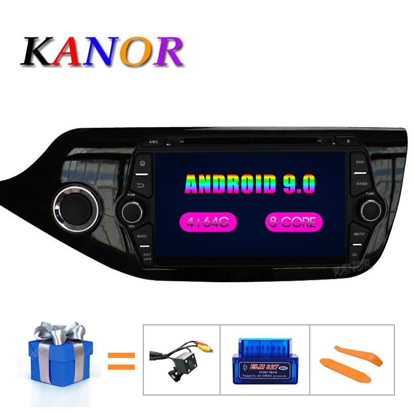 KANOR Android 9.0 IPS Octa core 4 + 32g Auto Multimedia-Player Für KIA Ceed 2013 2014 2015 Audio Radio steuergerät 2din Android Radio