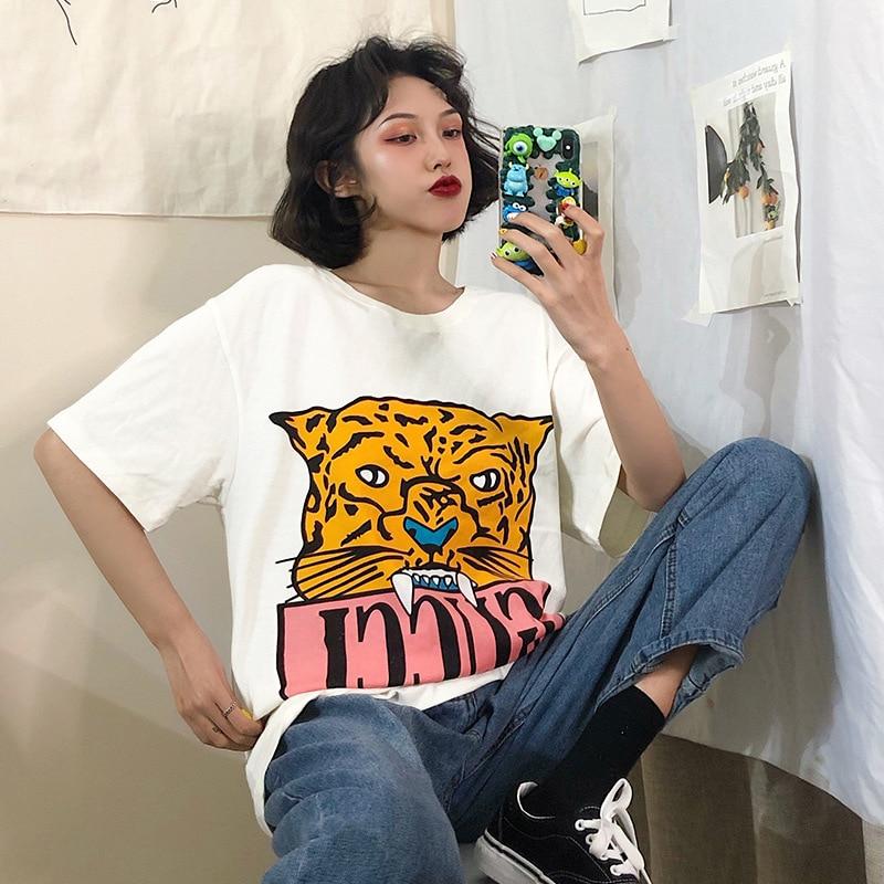 Verano pantalón corto casual mangas t camisa Sexy Bunny coreanos para chica Kawaii Streetwear Harajuku estética ropa