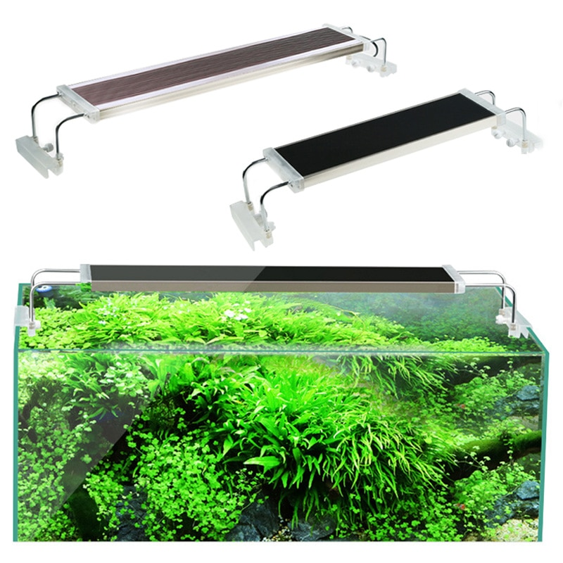 80 90 100 120 cm SUNSUN ADS Fish Tank Light For Aquarium Aquatic Plant Ultra Thin Super Bright  Clip Aquarium Led Lamp 110V 220V