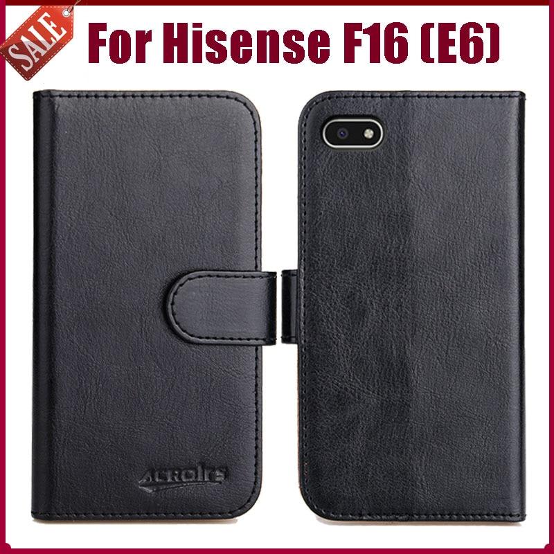 """¡Caliente! Funda Hisense F16 E6 5,45 """"6 colores Flip de cuero suave para el teléfono funda cartera para Hisense F16 E6 funda soporte ranuras para tarjetas"""