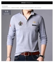 2021 new polo shirt mens solid color casual cotton polo mens slim fitting embroidery long sleeve mens summer polo shirt