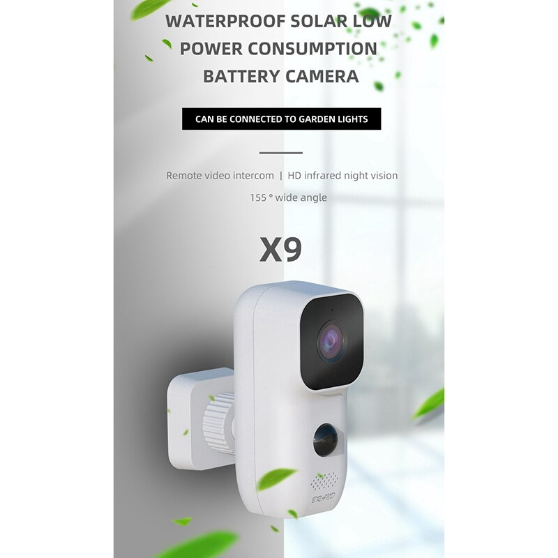 Wireless WIFI CCTV Camera Outdoor Waterproof Low Power Battery Camera PIR Motion Detection Smart Home Security Camera