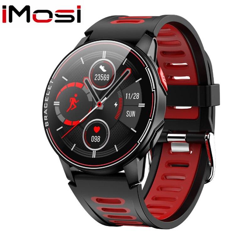 L6 الرجال النساء ساعة ذكية IP68 مقاوم للماء الذكية الفرقة جهاز تعقب للياقة البدنية مراقب معدل ضربات القلب Smartwatch ل IOS أندرويد