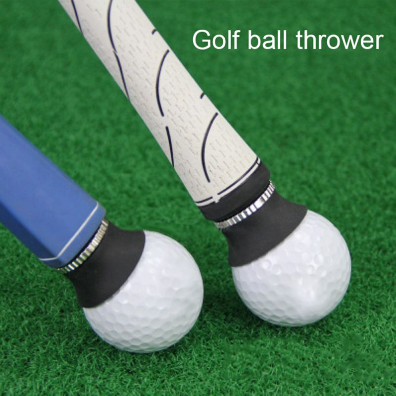 Práctica fácil de instalar, colector de bolas de Golf, ventosa, duradera, de silicona, aleación de Zinc, palo de agarre, herramienta de recogida, material de Golf